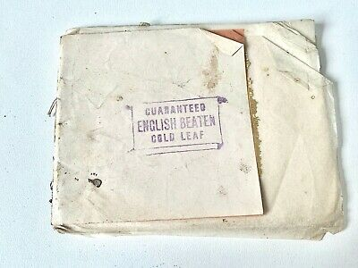 OLD STOCK - GUARANTEED ENGLISH BEATEN GOLD LEAF Book - 25 SHEETS   - A