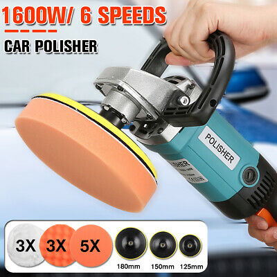 Electric Car Polisher Buffer Waxer Sander 1600W 220V Floor Polishing Machine Kit