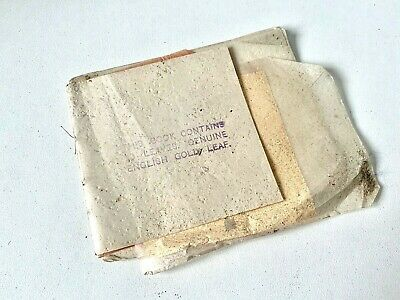 OLD STOCK - GUARANTEED ENGLISH BEATEN GOLD LEAF Book - 20 SHEETS   - C