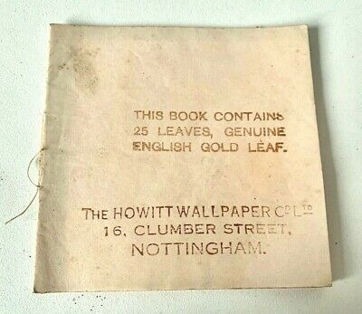 OLD STOCK - GUARANTEED ENGLISH BEATEN GOLD LEAF Book - 25 SHEETS   - F