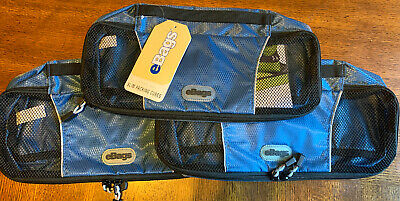 New eBags Slim Classic Packing Cubes 3-piece Set Blue