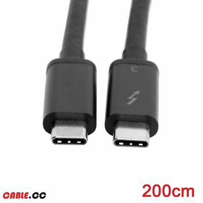 Thunderbolt 3 Male to Thunderbolt 3 Male 40Gbps Cable for Macbook Laptop USB-C