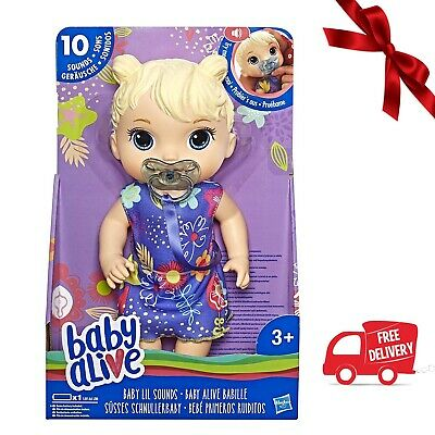 Baby Alive Baby Lil Sounds Interactive Doll (Blonde Hair) *BRAND NEW*