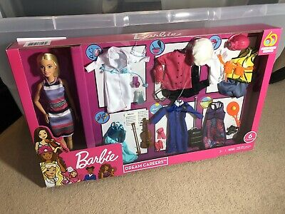 BARBIE Dream Careers Outfits With Doll, Fashion Closet NEW GREAT XMAS GIFT!