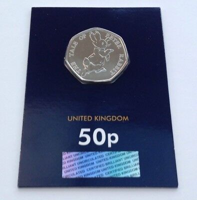 2017 Peter Rabbit 50p Fifty Pence Coin Brilliant Uncirculated BUNC New & Sealed