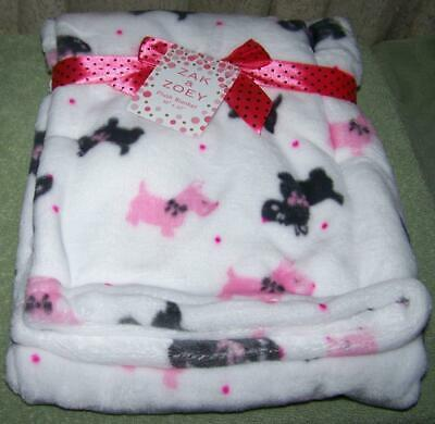 """Zak and Zoey Soft /& Snuggly Baby Blanket Pink /& Grey Arrows 30/"""" x 40/"""" NEW!"""