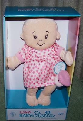 """Wee Baby Stella Soft Baby Doll 10.5"""" New"""