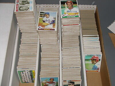 Huge (2200+) 1979 Topps Baseball Bulk card Lot - 35 years old  Low to Mid Grade