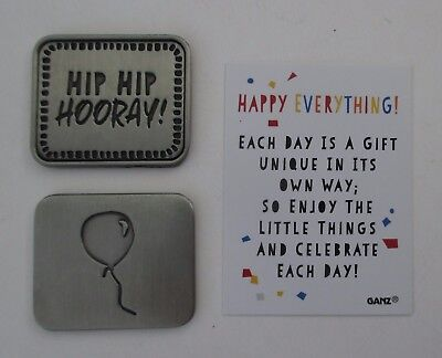 aa Hip Hip Hooray HAPPY EVERYTHING Pocket token charm Ganz celebrate