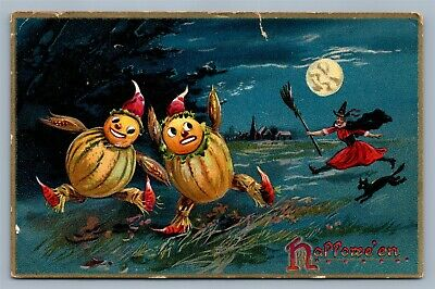 HALLOWEEN ANTIQUE POSTCARD by TUCK EMBOSSED