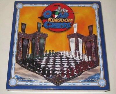 Quad Kingdom Chess 2 - 4 Player Chess Board Game New All Chess Players