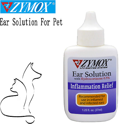 Pet Ears Cleaner Zymox Otic Infection Drops Solution Dog/Cat Ear Care Pet Health