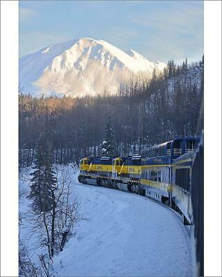 "10""x8"" (25x20cm) Print Alaska Railroad trip from Anchorage to Fai..."