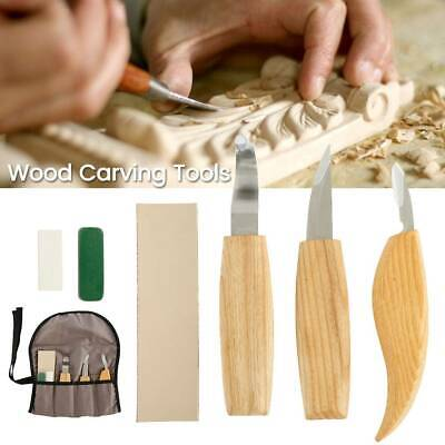 6x/Set Wood Carving Knife Chisel Woodworking Whittling Cutter Chip Hand Tools AU