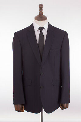 Mens Navy Blue Slim Fit Suit Limehaus 46R W40 L31 C111