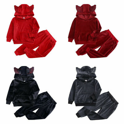 Kids Boys Girls Set Pants Top Hoodie Tracksuit Long Sleeve Sets 2 3 4 5 6 7 yrs