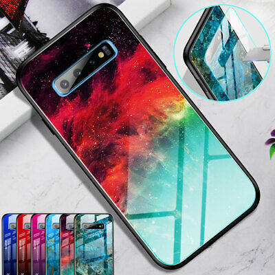 Marble Gradient Tempered Glass Case Cover for Samsung Galaxy Note10+ S10 S9 Plus