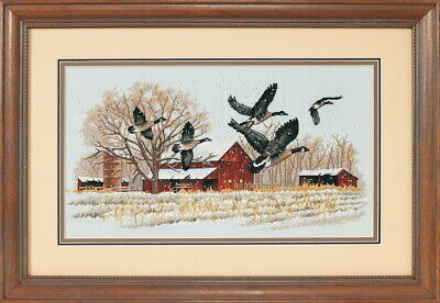 Dimensions Counted Cross Stich Winter Geese 13732