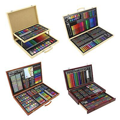 Creative Professional Wooden Art Artists Case Sets Stationary Colouring Drawing
