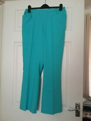 Pull on Trousers size 14 rear elasticated waistband from Cotton Traders