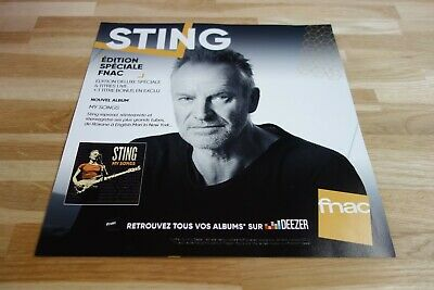 STING - My songs - PLV 30 X 30 CM !!!!!!