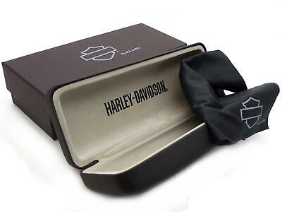 HARLEY DAVIDSON 'Black Label' Glasses CASE & Cloth for Prescription Eyeglasses