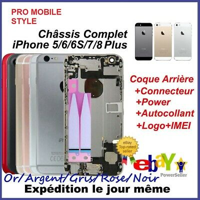 Chassis complet Coque arriere iPhone 5/5s 6 6S 7 Plus Or / argent / noir / rouge