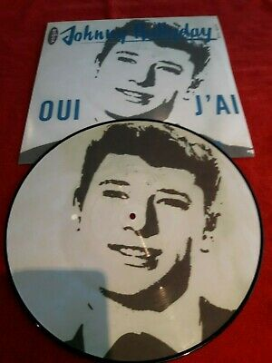 maxi 45T  picture disque  Johnny Hallyday