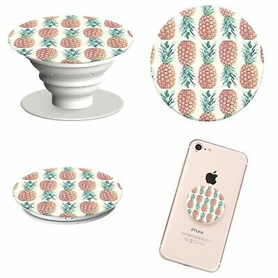 Pop Out Phone Holder Selfie Finger Grip Socket Stand Mobile Phones PINEAPPLE