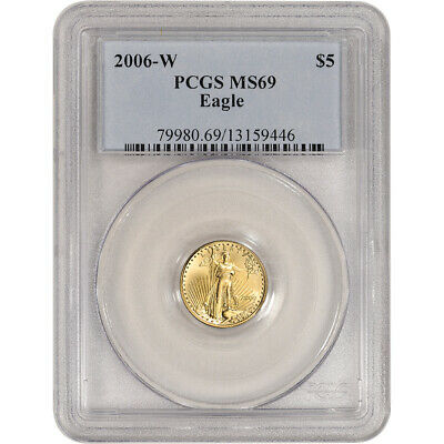 2006 W American Gold Eagle Burnished 1/10 oz $5 - PCGS MS69