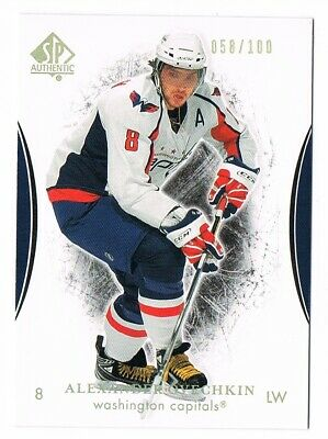 2007-08 SP Authentic Rainbow Limited #4 Alex Ovechkin 058/100