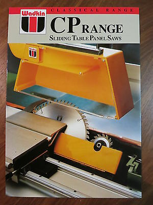 Wadkin Classical Range CP Range Sliding Table Panel Saws Product Leaflet
