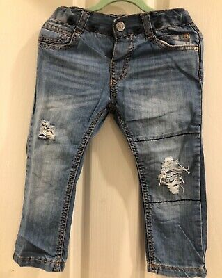 EUC ZARA Baby boys or girls blue jeans Size 18/24mths or Size 2