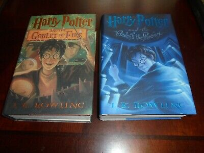Harry Potter Goblet of Fire Order of Phoenix Children Young Adult Books Rowling