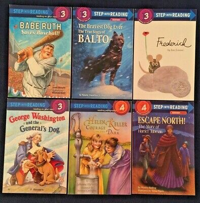 Lot of 6 Children's Picture Books: Step into Reading Series - Levels 3 & 4  PBs