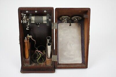 Antique Medical Quack Medicine Electro-Shock Therapy Device Battery Box Mahogany