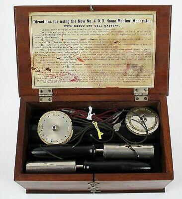 Antique Medical Quack Medicine Electro-Shock Therapy Home Medical Tool Device