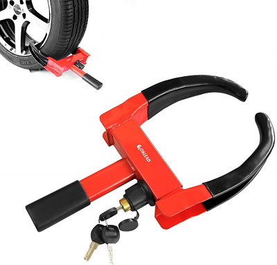 Security Wheel Clamp Lock - Anti Theft Tire Clamp Boot Claw lock for Atv'S Boats