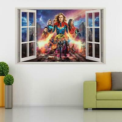 Avengers End Game 3D Window Decal Wall Sticker Art Mural Marvel Super Hero W059