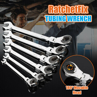 RatchetFix Tubing Wrench with Flexible Head Mirror Polishing Maintain Repair US