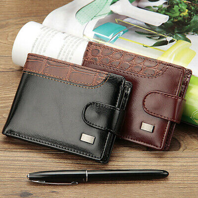 Mens Soft PU Leather Wallet RFID SAFE Contactless Card Blocking ID Protection UK