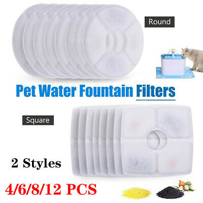 12PCS Pet Dog Cat Water Fountain Filters for Flower Fountains Replacement Filter