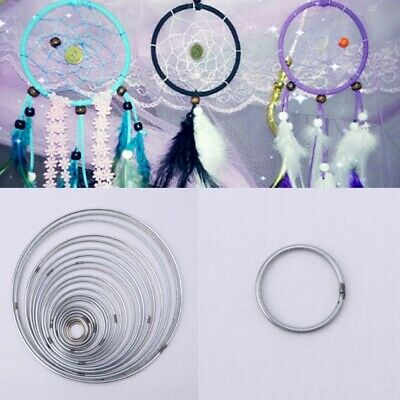 22Pcs 18-200mm Metal Dream Catcher Dreamcatcher Ring Macrame Craft Hoop