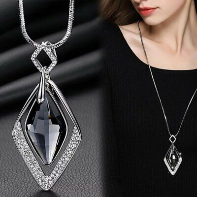 Charm Geometric Square Pendant Necklace Sweater Hollow Long Lady Jewellery Gifts