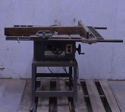 Rockwell Delta 34-338 Tilting Arbor Contractor's Table Saw