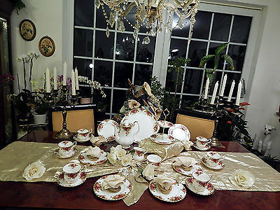 edles Kaffeeservice Royal Albert Old Country Roses mit Etagere 23teilig
