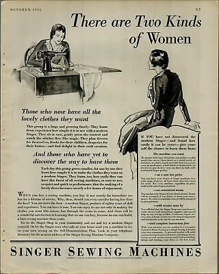 1931 Singer Sewing Machine There Are Two Kinds of Women Vintage Print Ad 2883