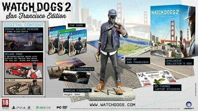 WATCH DOGS 2 SAN FRANCISCO coffret COLLECTORS EDITION XBOX ONE NEUF NEW