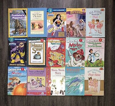 RANDOM Lot of 15 LEVEL 2 Early Readers Learning Childrens Books Paperback Girl