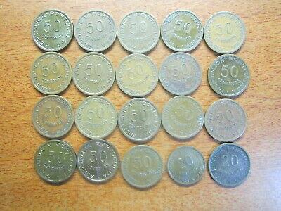 PORTUGAL Angola 20 & 50 Centavos 1948 to 1961
